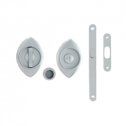Ручка врезная WC для раздвижных дверей в комплекте Mandelli 368Т N/S kit – 26D