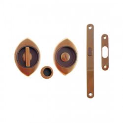 Ручка врезная WC для раздвижных дверей в комплекте Mandelli 368Т N/S kit – PВ/BR