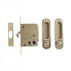 Ручка врезная WC для раздвижных дверей в комплекте Villani P-6 – SN