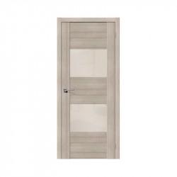 Дверь межкомнатная El'Porta Эко VG2 (Cappuccino Veralinga / White Pearl)