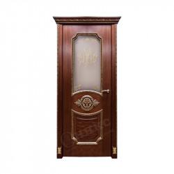 Дверь межкомнатная Оникс Империя (Красное дерево с черной патиной)