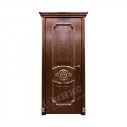 Дверь межкомнатная Оникс Империя (Красное дерево, золото)