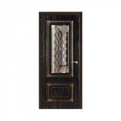 Дверь межкомнатная Оникс Мадрид (Черная эмаль с золотой патиной)