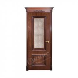 Дверь межкомнатная Оникс Мадрид (Красное дерево с черной патиной)