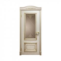 Дверь межкомнатная Оникс Мадрид (Патина, золото)