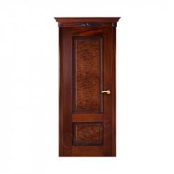 Дверь межкомнатная Оникс Марсель с декором (Красное дерево с черной патиной)