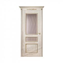 Дверь межкомнатная Оникс Версаль с декором (Патина)