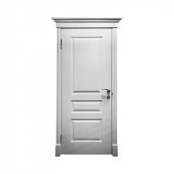 Дверь межкомнатная Оникс Версаль с фрезой (Эмаль белая) глухая