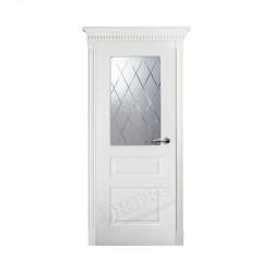 Дверь межкомнатная Оникс Версаль с фрезой (Эмаль белая)