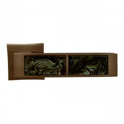 Ручка на розетке для межкомнатных дверей ORO&ORO 203 – 13E SN / BLACK TIGER